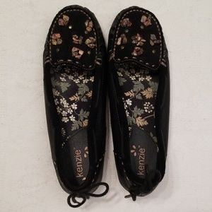 Kenzie 7.5 black leather loafers